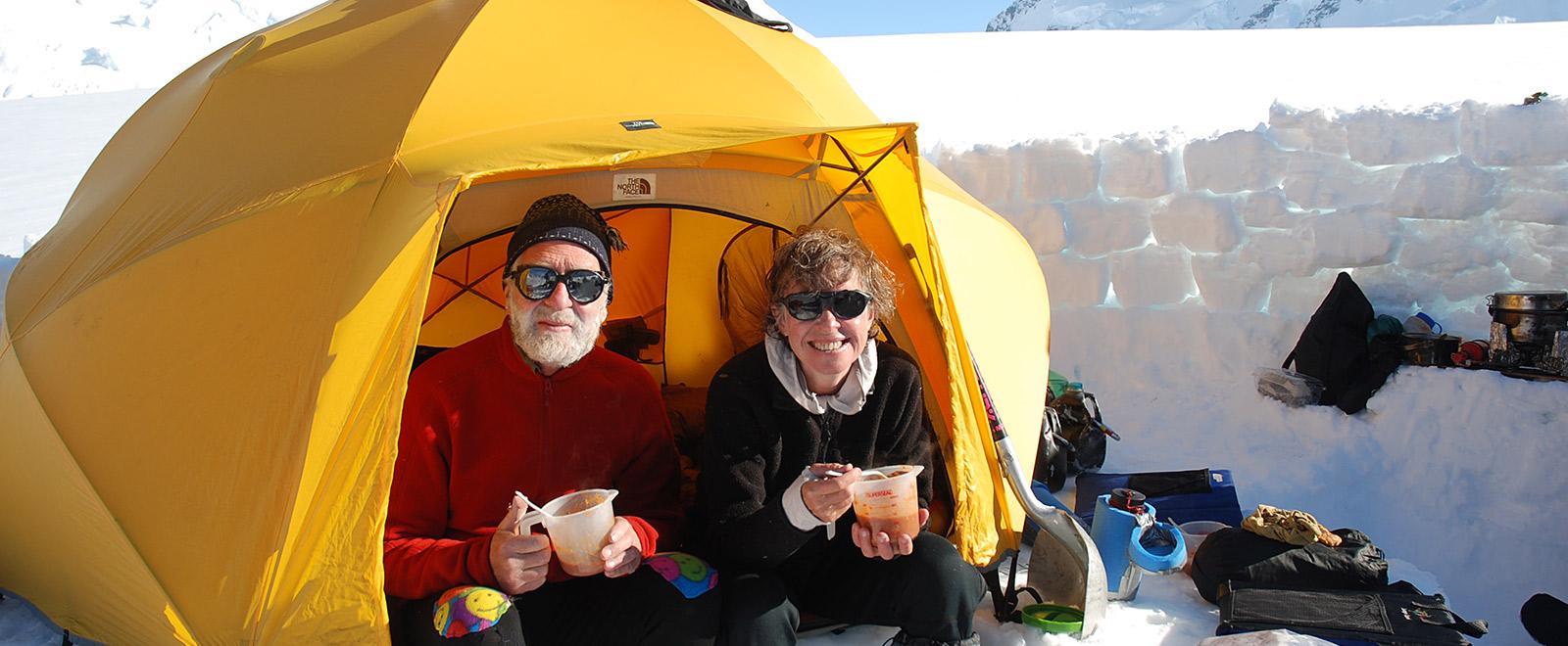 camping ski trip