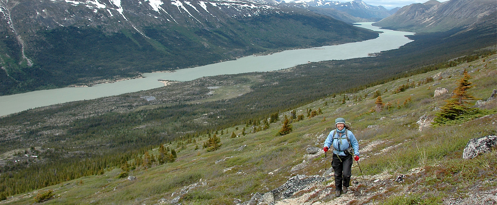 hiking yukon landscape