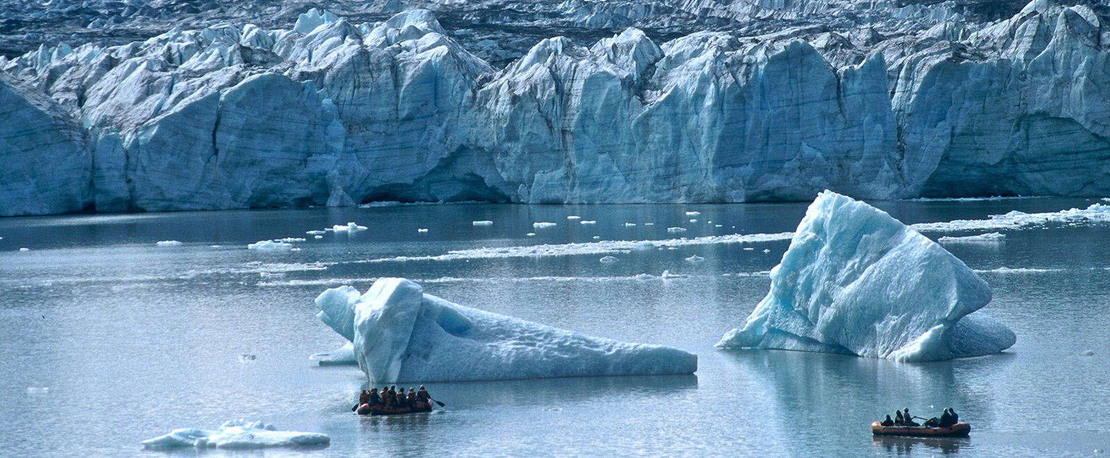 rafting amongst the 'bergs