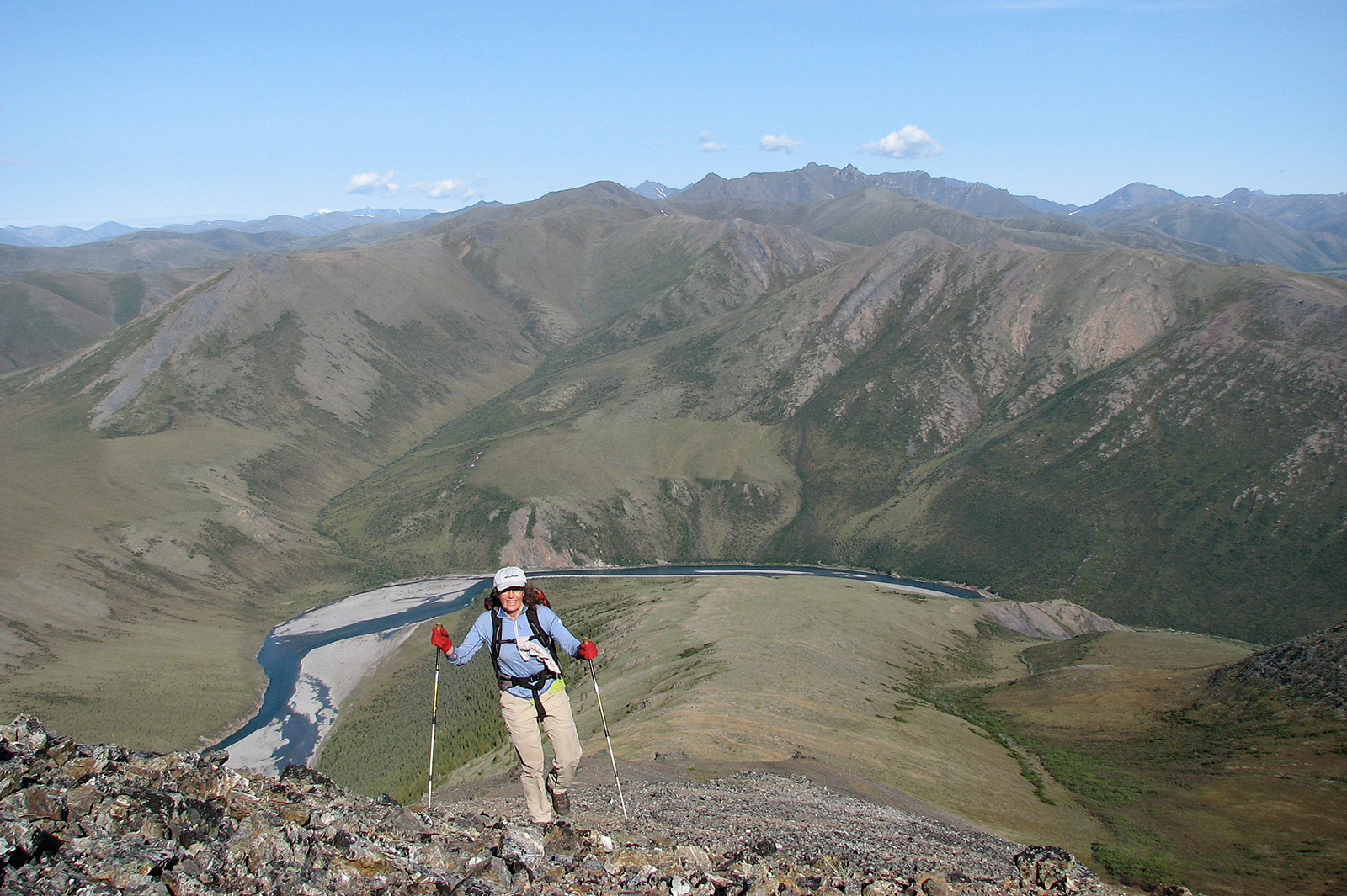 hiking,yukon mountains