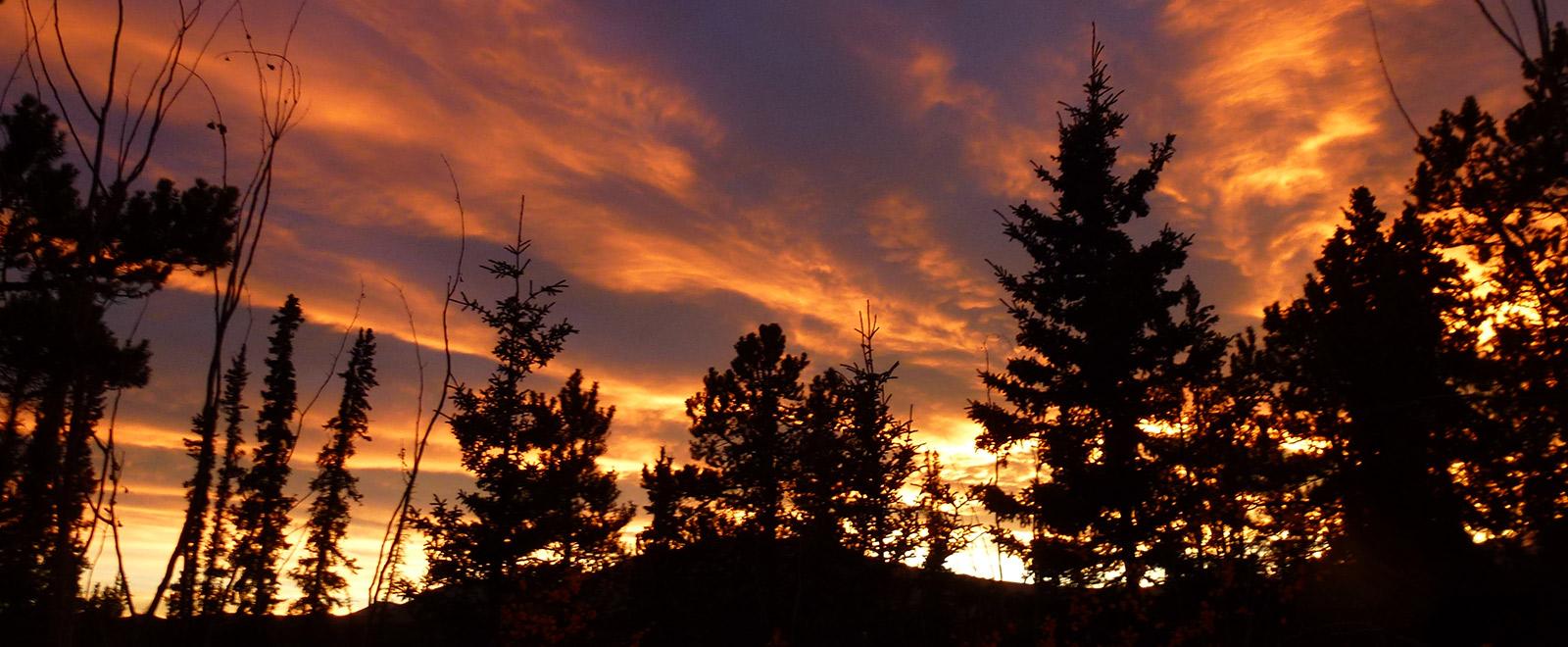 scenic yukon sunset