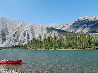canoe water adventure landscape