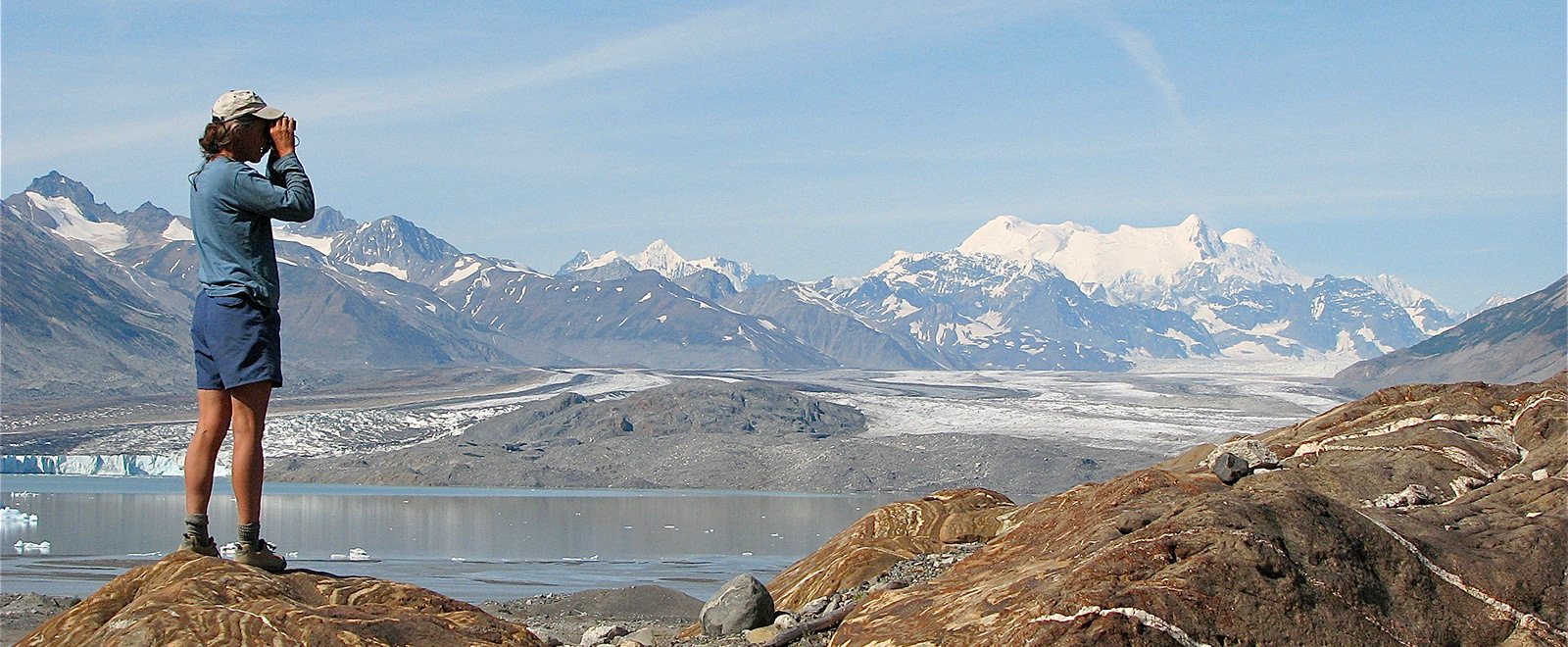 Lowell Lake &  Glacier  with St Elias Mountainseld behind