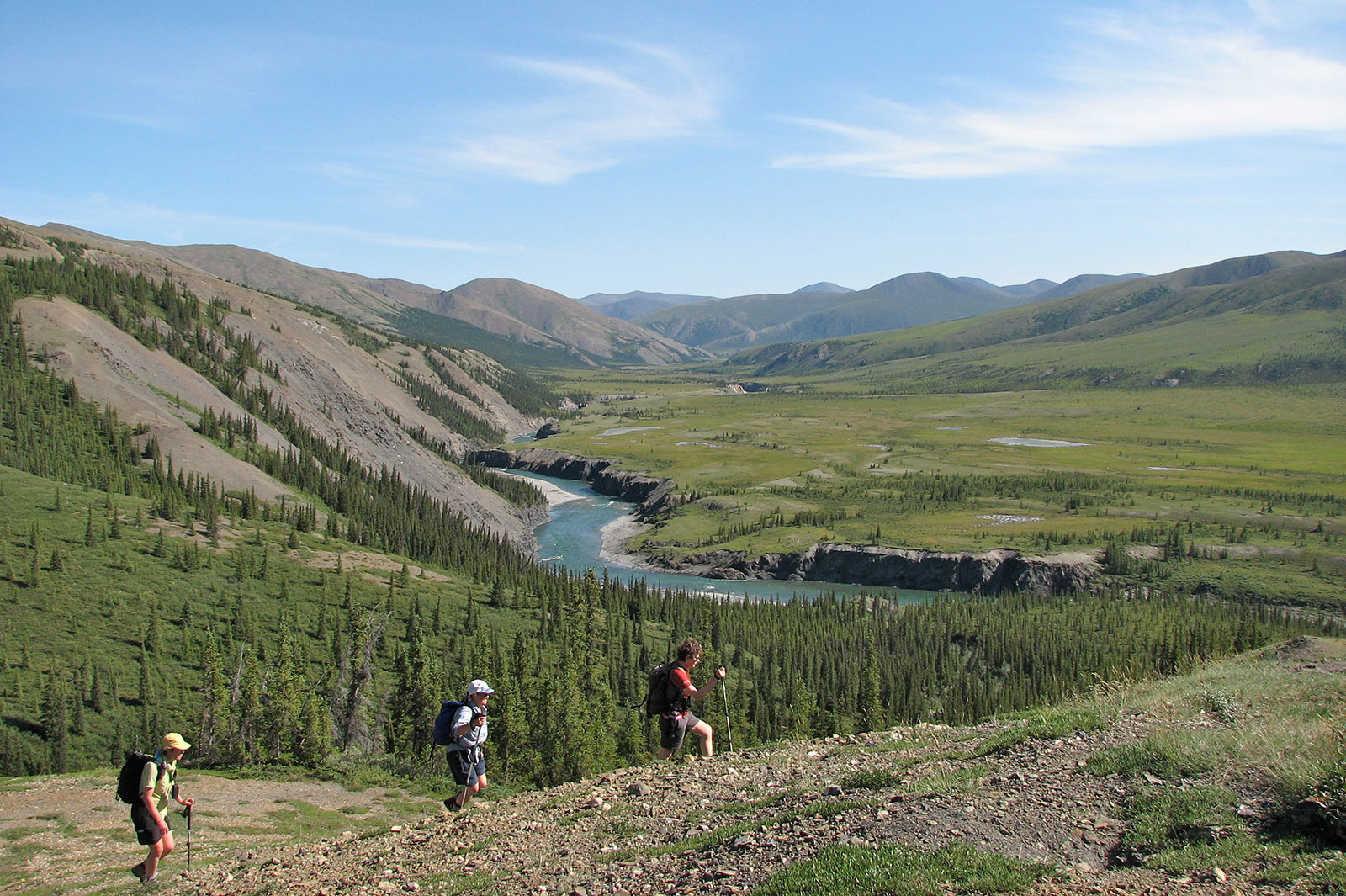 Yukon mountains,hiking