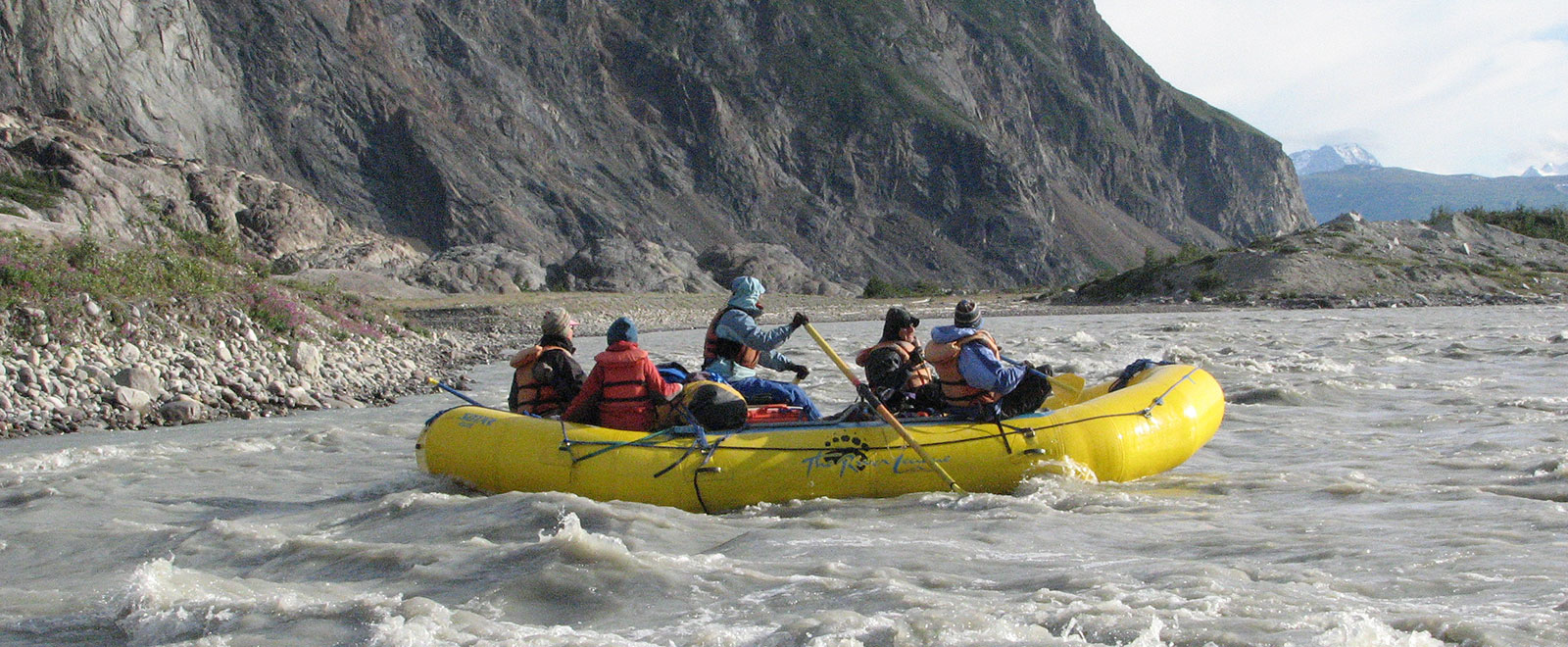 final stretch on alsek into Lowell Lake